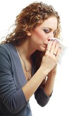 beautiful woman crying