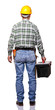 back view of handyman