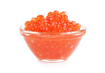 Fresh red caviar