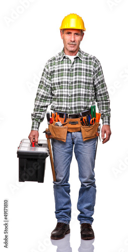 handyman with toolsbox