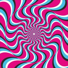 Optical illusion ellipse wave
