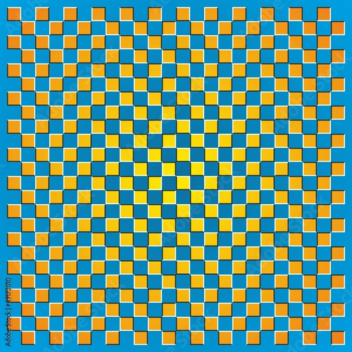 Optical illusion square borders