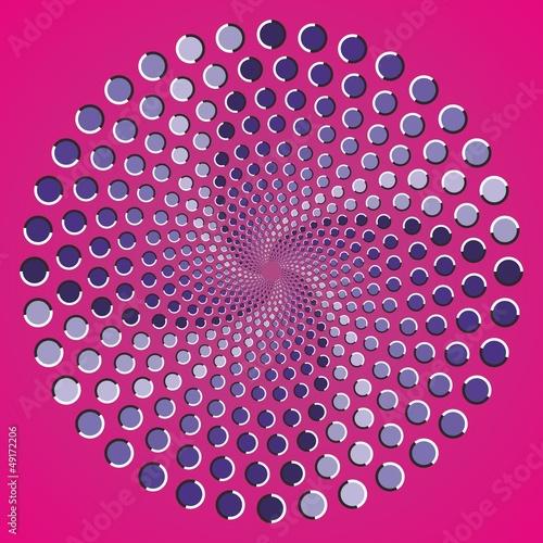 Optical illusion ellipse color points