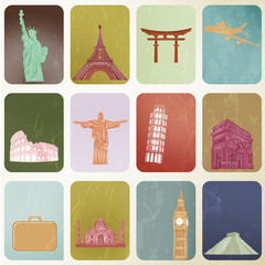 Vector EPS 10- Travel landmark around the world