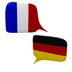 Speech bubbles, learn languages