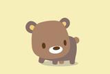 クマのイラスト ベージュトーン