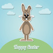 happy easter bunny white background