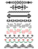 Set of decorative elements for page decoration