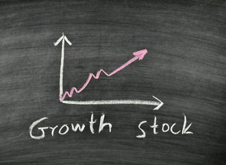 growth stock and business graph