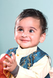 Smiling Indian Baby in Tranditional Clothing