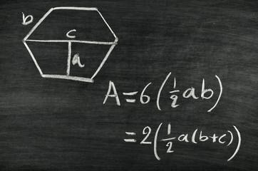 Hexagon area formula