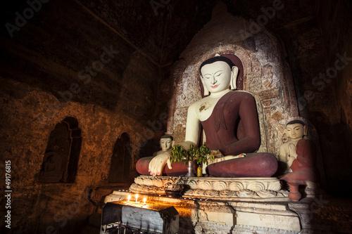 Big Buddha statue in temple Bagan, Myanmar.