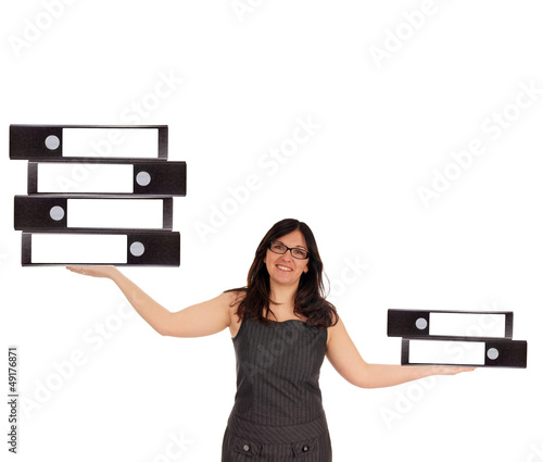 Business Woman with file folders
