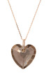 heart pendant isolated on the white background