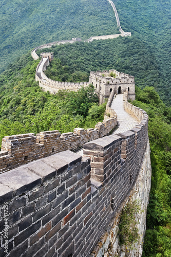 Magnificent view on the Great Wall, Beijing, China © tonyv3112
