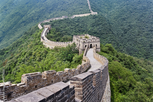 Fotobehang Beijing Magnificent view on the Great Wall, Beijing, China