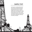 Oil rig banner for your text. - 49177801