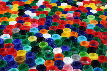 color background from plastic caps
