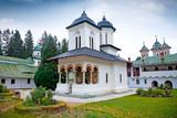 The old Church at the Sinaia Monastery in Sinaia.  Romania. poster