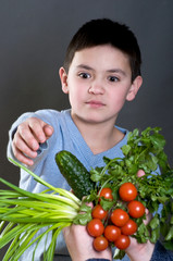 The boy wants the vegetables