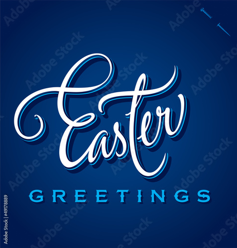 EASTER GREETINGS hand lettering (vector)