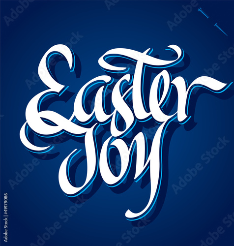 EASTER JOY hand lettering (vector)