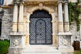 Door on Peles museum in Sinaia , Romania. poster