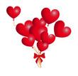 Bouquet Ballons Coeurs Rouges
