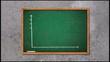 Business chart falling on chalkboard