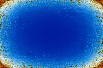 Abstract blue background with speckled border