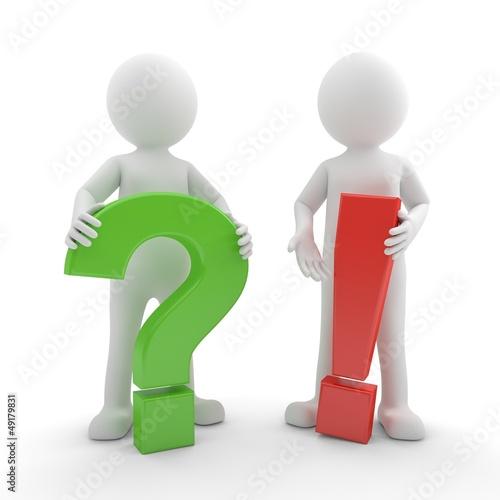 3d Männchen Frage Antwort