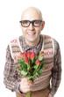 Nerd schenkt Rosen