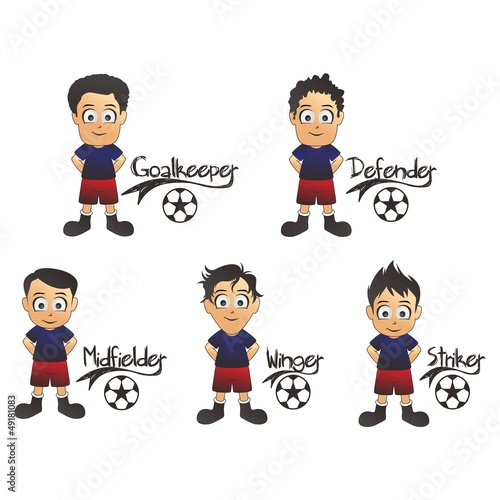 soccer formation cartoon