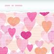 vector textured fabric hearts torn horizontal seamless