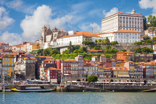 Foto op Canvas Mediterraans Europa Panoramic of old Porto from Douro River, Portugal