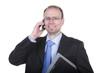Mann telefoniert mit dem Handy