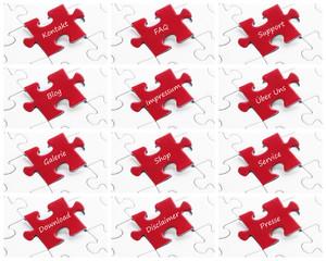 Jig Saw Puzzle - Webdesign Set