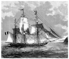 Sailing-Vessel - 3 Mâts - begining 19th century