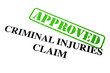 Approved Criminal Injuries Claim