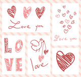 set of valentine's cards
