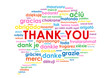 """THANK YOU"" Tag Cloud (a lot thanks gratitude speech bubble)"