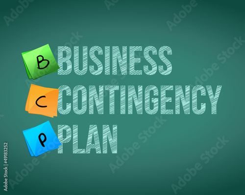 business contingency plan and post