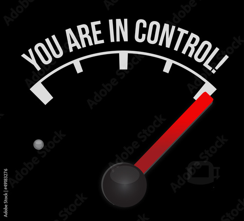 speedometer with the words You're in Control