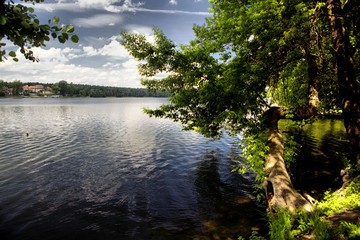 Lake in Wagrowiec, Poland