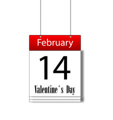 Valentine's day on February 14