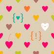Valentine cartoon hearts seamless pattern