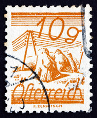 Postage stamp Austria 1925 Fields Crossed by Telegraph Wires