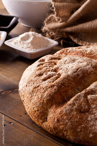 Fresh rustic baked bread