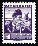 Postage stamp Austria 1934 Man from Burgenland