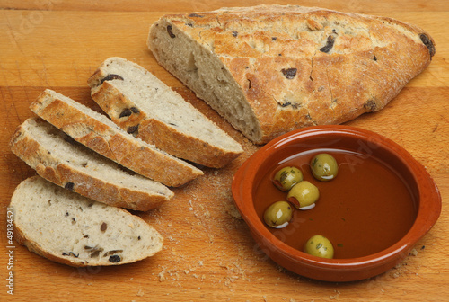 Artisan Olive Bread with Olive Oil